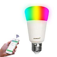 Недорогие Интеллектуальные огни-zigbee led bulb lamps e27 rgbw смарт-приложение управление 16 миллионов цветов 9w dimmable интеллигентное освещение