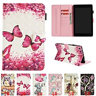 abordables Accesorios para Kindle-Funda Para Amazon Kindle Fire hd 8(7th Generation, 2017 Release) / Kindle Fire hd 8(6th Generation, 2016 Release) Soporte de Coche / con Soporte / Flip Funda de Cuerpo Entero Animal / Dibujo 3D / Flor