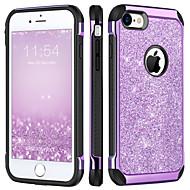 Недорогие Кейсы для iPhone 8-Кейс для Назначение Apple iPhone 8 / iPhone 7 Защита от удара / Покрытие / Сияние и блеск Кейс на заднюю панель Сияние и блеск Твердый ТПУ / ПК для iPhone 8 / iPhone 7