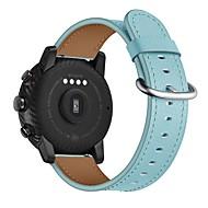 Недорогие Ремешки для часов Xiaomi-Ремешок для часов для Huami Amazfit A1602 Xiaomi Классическая застежка Натуральная кожа Повязка на запястье