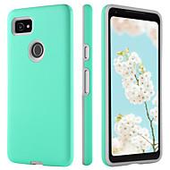 お買い得  携帯電話ケース-ケース 用途 Google Pixel 2 XL 耐衝撃 / 超薄型 / Wireless Charging Receiver Case バックカバー ソリッド ハード TPU / PC のために Pixel 2 XL