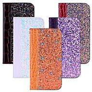 preiswerte Handyhüllen-Hülle Für Xiaomi Mi 6X / Mi 5X Kreditkartenfächer / mit Halterung / Flipbare Hülle Ganzkörper-Gehäuse Glänzender Schein Hart PU-Leder für Xiaomi Redmi 4X / Xiaomi Mi 7 / Xiaomi Mi 6X(Mi A2)
