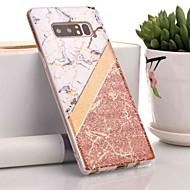 Недорогие Чехлы и кейсы для Galaxy Note 8-Кейс для Назначение SSamsung Galaxy Note 9 / Note 8 IMD / С узором Кейс на заднюю панель Мрамор Мягкий ТПУ для Note 9 / Note 8