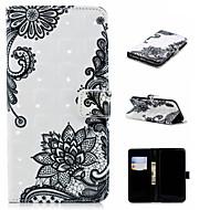 Недорогие Кейсы для iPhone 8 Plus-Кейс для Назначение Apple iPhone XS / iPhone XS Max Кошелек / Бумажник для карт / со стендом Чехол Кружева Печать Твердый Кожа PU для iPhone XS / iPhone XR / iPhone XS Max