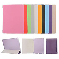cheap iPad Accessories-Case For Apple iPad (2018) / iPad 4/3/2 with Stand / Flip / Origami Full Body Cases Solid Colored / Flower Hard PU Leather for iPad Air / iPad 4/3/2 / iPad Mini 3/2/1