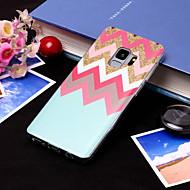 Недорогие Чехлы и кейсы для Galaxy S8-Кейс для Назначение SSamsung Galaxy S9 Plus / S9 IMD / С узором Кейс на заднюю панель Полосы / волосы Мягкий ТПУ для S9 / S9 Plus / S8 Plus