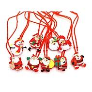 abordables Lámparas LED Novedosas-1 unid niños led resplandor collar de juguete luminosa serie de navidad árbol de navidad iluminación intermitente colgante adornos bebé collar juguete regalos al azar