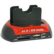 abordables Fundas de Disco Duro-Recinto del disco duro Fácil de llevar El plastico USB 2.0 875-j