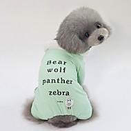 abordables -Chiens Manteaux Vêtements pour Chien Personnage / Slogan Vert / Bleu / Rose Térylène Costume Pour les animaux domestiques Unisexe Style Mignon / Guêtres