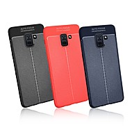 Недорогие Чехлы и кейсы для Galaxy A7(2016)-Кейс для Назначение SSamsung Galaxy A9 Star / A8 Plus 2018 Ультратонкий Кейс на заднюю панель Однотонный Мягкий ТПУ для A5(2018) / A6 (2018) / A6+ (2018)