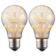 お買い得  LED ボール型電球-2w e27 edison led電球a19レトロフィラメントライトac 220v - 240vバークリスマスパーティー夜の雰囲気の装飾(2個)
