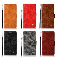 お買い得  携帯電話ケース-ケース 用途 Asus Zenfone 4 ZE554KL / Zenfone 4 Selfie ZD553KL ウォレット / カードホルダー / スタンド付き フルボディーケース ソリッド ハード PUレザー のために ASUS ZenFone Max Pro ZB602KL / AsusのZenFone GO ZB551KL / Asus Zenfone 4 Selfie ZD553KL