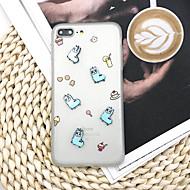 Недорогие Кейсы для iPhone 8-Кейс для Назначение Apple iPhone X / iPhone 8 Plus Матовое / Своими руками Кейс на заднюю панель Мультипликация Мягкий ТПУ для iPhone X / iPhone 8 Pluss / iPhone 8
