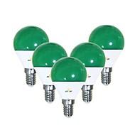 お買い得  -EXUP® 5個 5 W 450 lm E14 LEDボール型電球 G45 12 LEDビーズ SMD 2835 キュート / クリエイティブ / パーティー グリーン 220-240 V / 110-130 V