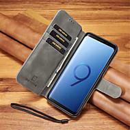 Недорогие Чехлы и кейсы для Galaxy Note 8-Кейс для Назначение SSamsung Galaxy Note 9 / Note 8 Бумажник для карт / Защита от удара Чехол Однотонный Твердый Кожа PU для Note 9 / Note 8
