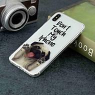 Недорогие Кейсы для iPhone 8-Кейс для Назначение Apple iPhone XR / iPhone XS Max Прозрачный / С узором Кейс на заднюю панель С собакой Мягкий ТПУ для iPhone XS / iPhone XR / iPhone XS Max
