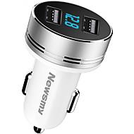 Недорогие Автомобильные зарядные устройства-Newmine Автомобиль Автомобильное зарядное устройство / Прикуриватель 2 USB порта для 5 V