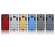Недорогие Чехлы и кейсы для Galaxy A3(2016)-Кейс для Назначение SSamsung Galaxy J6 / A3(2016) Защита от удара / со стендом Кейс на заднюю панель Однотонный Твердый ПК для A3(2016)