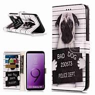 Недорогие Чехлы и кейсы для Galaxy S9-Кейс для Назначение SSamsung Galaxy S9 / S8 Plus Кошелек / Бумажник для карт / со стендом Чехол С собакой Твердый Кожа PU для S9 / S9 Plus / S8 Plus