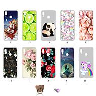 preiswerte Handyhüllen-Hülle Für Huawei P20 lite Staubdicht / Ultra dünn / Muster Rückseite Einhorn / Blume / Weihnachten Weich TPU für Huawei P20 lite