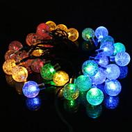 cheap -3.5m String Lights 20 LEDs Multi Color Decorative Solar Powered 1 set