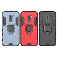 abordables -Coque Pour Xiaomi Xiaomi Pocophone F1 Antichoc / Anneau de Maintien Coque Couleur Pleine / Armure Dur PC pour Xiaomi Pocophone F1