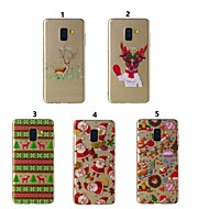 voordelige Galaxy A-serie hoesjes / covers-hoesje Voor Samsung Galaxy A8 Plus 2018 / A6 (2018) Transparant / Patroon Achterkant Kerstmis Zacht TPU voor A6 (2018) / A6+ (2018) / A8 2018