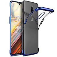 お買い得  携帯電話ケース-ケース 用途 OnePlus OnePlus 6 / One Plus 6T メッキ仕上げ バックカバー ソリッド ソフト TPU のために OnePlus 6 / One Plus 6T / One Plus 5