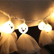 cheap -5m String Lights 20 LEDs Warm White Decorative 220-240 V 1 set
