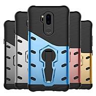 お買い得  携帯電話ケース-ケース 用途 LG V20 / G7 耐衝撃 / スタンド付き / つや消し バックカバー 鎧 ハード PC のために LG X Style / LG X Power / LG V20