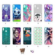 お買い得  携帯電話ケース-ケース 用途 Huawei P20 lite 耐埃 / 超薄型 / パターン バックカバー 動物 / シティビュー / カラーグラデーション ソフト TPU のために Huawei P20 lite