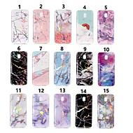 Case For Samsung Galaxy J8 / J6 IMD / Pattern Back Cover Marble Soft TPU for J8 (2018) / J7 (2017) / J7 (2018)