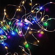 cheap -10m String Lights 100 LEDs Multi Color Decorative AA Batteries Powered 1 set