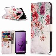Carcasă Pro Samsung Galaxy S9 / S8 Plus Peněženka / Pouzdro na karty / se stojánkem Celý kryt Květiny Pevné PU kůže pro S9 / S9 Plus / S8 Plus