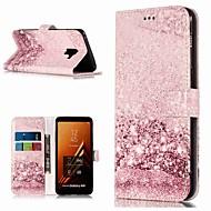 Недорогие Чехлы и кейсы для Galaxy A5(2017)-Кейс для Назначение SSamsung Galaxy A8 Plus 2018 / A5(2017) Кошелек / Бумажник для карт / со стендом Чехол Мрамор Твердый Кожа PU для A3 (2017) / A5 (2017) / A8 2018