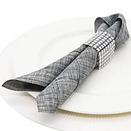 abordables Servilletas y servilleteros-Moderno / Casual El plastico Redondo Anillo de Servilletas Un Color Decoraciones de mesa 10 pcs