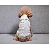 abordables -Chiens Pull Vêtements pour Chien Couleur Pleine / simple / Rayure Blanc / Bleu de minuit / Rose Autre matériel / Chenille Costume Pour les animaux domestiques Unisexe Guêtres / A Rayures