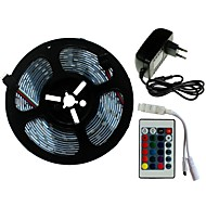 billiga -SENCART 5m Ljusuppsättningar 300/150 lysdioder SMD5050 1 24Välj fjärrkontrollen / 1 x 2A nätadapter RGB Klippbar / Dekorativ / Kopplingsbar 100-240 V 1set