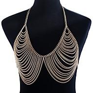 cheap -Braided Body Chain Ladies, Hyperbole Women's Gold Body Jewelry For Club