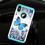 Недорогие Кейсы для iPhone 8 Plus-Кейс для Назначение Apple iPhone XS / iPhone XS Max Стразы / Полупрозрачный Кейс на заднюю панель Бабочка Твердый ТПУ / ПК для iPhone XS / iPhone XR / iPhone XS Max