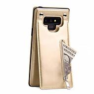 Недорогие Чехлы и кейсы для Galaxy Note 8-Кейс для Назначение SSamsung Galaxy Note 9 / Note 8 Кошелек / Бумажник для карт / Магнитный Кейс на заднюю панель Однотонный Твердый Кожа PU для Note 9 / Note 8