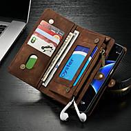 Недорогие Чехлы и кейсы для Galaxy S-CaseMe Кейс для Назначение SSamsung Galaxy S7 edge Кошелек / Бумажник для карт / со стендом Чехол Однотонный Твердый Кожа PU для S7 edge