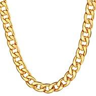 ieftine -Bărbați Lănțișoare Link cubanez Mariner Chain Hiperbolă Modă Hip Hop Teak Auriu Negru Argintiu 55 cm Coliere Bijuterii 1 buc Pentru Cadou Zilnic