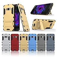 Недорогие Чехлы и кейсы для Galaxy S8 Plus-Кейс для Назначение SSamsung Galaxy S8 Plus Защита от удара / со стендом Кейс на заднюю панель Однотонный Твердый ПК для S8 Plus