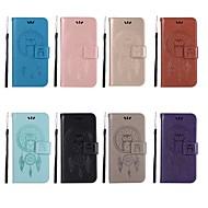 お買い得  携帯電話ケース-ケース 用途 OnePlus OnePlus 6 / OnePlus 5T ウォレット / カードホルダー / スタンド付き フルボディーケース フクロウ ハード PUレザー のために OnePlus 6 / OnePlus 5T