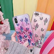 Недорогие Кейсы для iPhone 8 Plus-Кейс для Назначение Apple iPhone XR / iPhone XS Max Защита от удара / Движущаяся жидкость / Прозрачный Кейс на заднюю панель Растения / Сияние и блеск Твердый ПК для iPhone XS / iPhone XR / iPhone XS