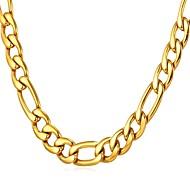 ieftine -Bărbați Lănțișoare Figaro lanț Box lanț Mariner Chain Modă Dubai Hip Hop Teak Auriu Negru Argintiu 55 cm Coliere Bijuterii 1 buc Pentru Cadou Zilnic