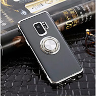Недорогие Чехлы и кейсы для Galaxy S7 Edge-Кейс для Назначение SSamsung Galaxy S9 Plus / S9 Кольца-держатели / Ультратонкий / Прозрачный Кейс на заднюю панель Однотонный Мягкий ТПУ для S9 / S9 Plus / S8 Plus