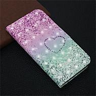 Недорогие Кейсы для iPhone 8 Plus-Кейс для Назначение Apple iPhone XR / iPhone XS Max Кошелек / Бумажник для карт / со стендом Чехол С сердцем Твердый Кожа PU для iPhone XS / iPhone XR / iPhone XS Max