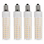 お買い得  LED コーン型電球-4本 8.5 W 1105 lm E14 LEDコーン型電球 T 125 LEDビーズ SMD 2835 調光可能 温白色 / クールホワイト 110 V